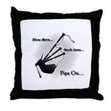 Blow more... Suck Less... (Modern) Throw Pillow