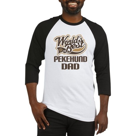 Pekehund Dog Dad Baseball Jersey