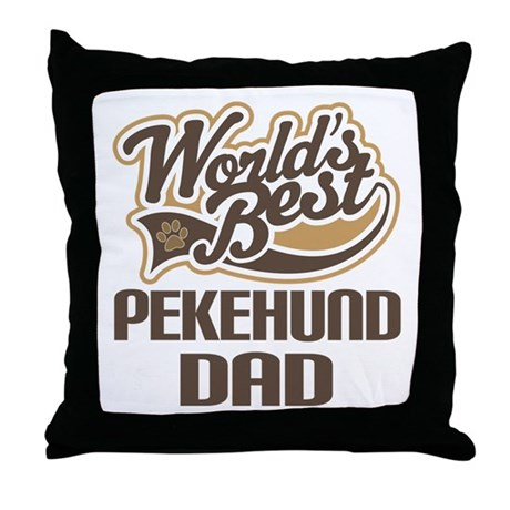 Pekehund Dog Dad Throw Pillow