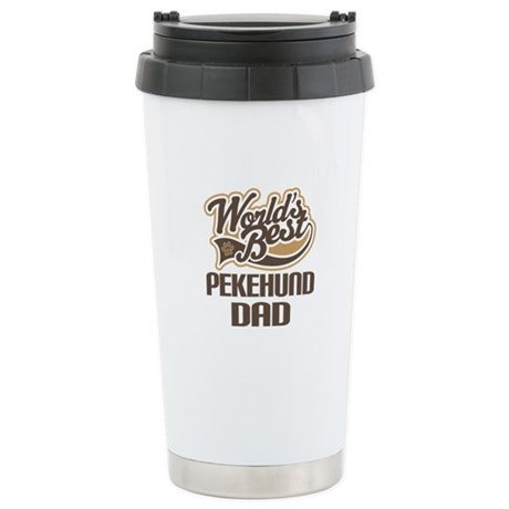 Pekehund Dog Dad Ceramic Travel Mug