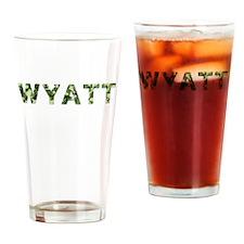 Wyatt, Vintage Camo, Drinking Glass