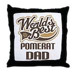 Pomerat Dog Dad Throw Pillow
