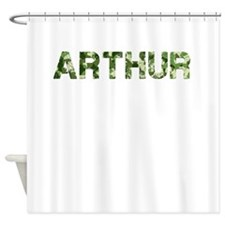 Arthur, Vintage Camo, Shower Curtain