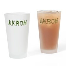 Akron, Vintage Camo, Drinking Glass