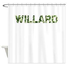 Willard, Vintage Camo, Shower Curtain