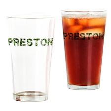 Preston, Vintage Camo, Drinking Glass