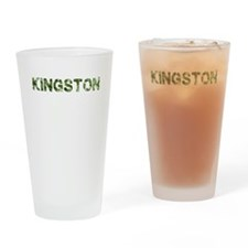 Kingston, Vintage Camo, Drinking Glass