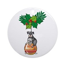 Schnauzer on Ornament Ornament (Round)
