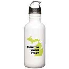 Right To Work State Michigan Water Bottle
