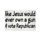 Jesus Wouldn't Own A Gun Rectangle Magnet (10 pack