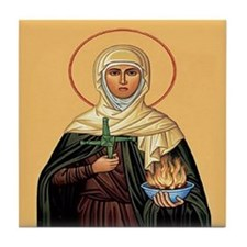 St. Brigid of Ireland Tile Coaster