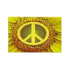 Sunflower Peace Rectangle Magnet