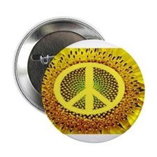 "Sunflower Peace 2.25"" Button"