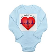 Cute Bypass Long Sleeve Infant Bodysuit