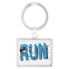 Grunge RUN Landscape Keychain