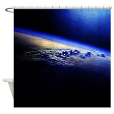 Cloud Cover over the Earth Shower Curtain