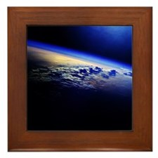 Cloud Cover over the Earth Framed Tile