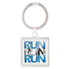 RUN x 3 Square Keychain