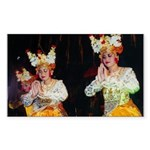 Balinese Dancers Sticker