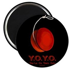 "Red Y.O.Y.O. 2.25"" Magnet (100 pack)"