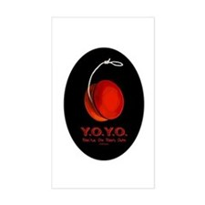 Red Y.O.Y.O. Rectangle Decal