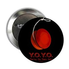"Red Y.O.Y.O. 2.25"" Button (10 pack)"