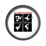Breakdance Battle Wall Clock