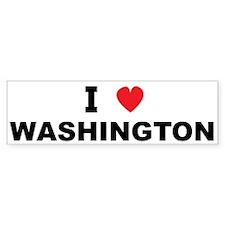 I Love Washington Bumper Bumper Sticker
