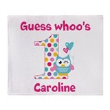 Custom guess whos 1 girl Throw Blanket