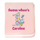 Babys first birthday owl personalize Baby