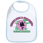 Witches Brew & Broom Bib