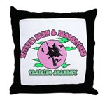 Witches Brew & Broom Throw Pillow