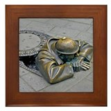Man in the hole Framed Tile