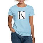 Greek Character Kappa Women's Pink T-Shirt