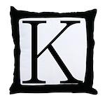 Greek Character Kappa Throw Pillow