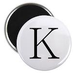 Greek Character Kappa Magnet