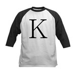 Greek Character Kappa Kids Baseball Jersey