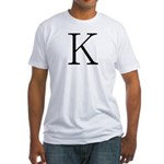 Greek Character Kappa Fitted T-Shirt
