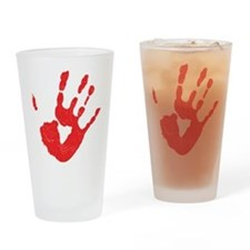 Bloody Hand Print Drinking Glass