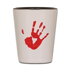 Bloody Hand Print Shot Glass