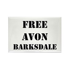 """Free Avon Barksdale"" Rectangle Magnet"