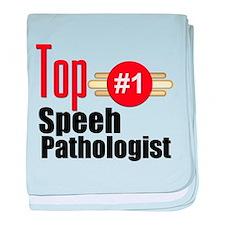 Top Speech Pathologist baby blanket