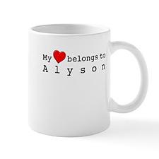 My Heart Belongs To Alyson Mug