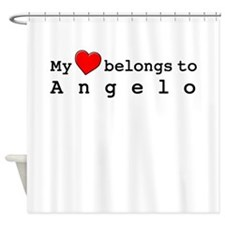 My Heart Belongs To Angelo Shower Curtain