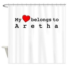 My Heart Belongs To Aretha Shower Curtain