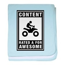 ATV Riding baby blanket