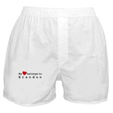 My Heart Belongs To Brandon Boxer Shorts