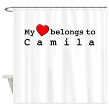 My Heart Belongs To Camila Shower Curtain