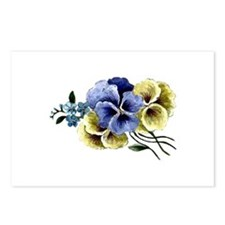 Painted Pansy Postcards (Package of 8)