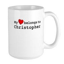 My Heart Belongs To Christopher Mug